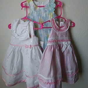 Lot of 3 jessica ann dresses size 18 months